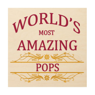 Amazing Pops Wood Print