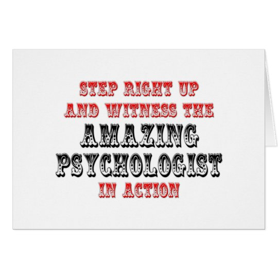 Amazing Psychologist In Action Card