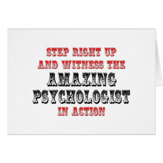 Amazing Psychologist In Action Greeting Card