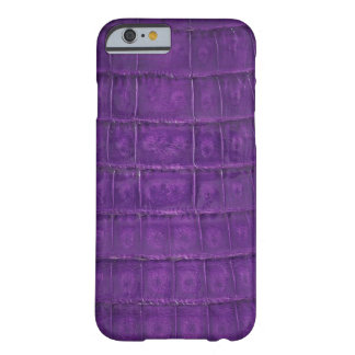 Amazing Purple Gator Print Barely There iPhone 6 Case