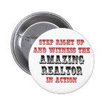 Amazing Realtor In Action 6 Cm Round Badge