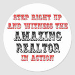 Amazing Realtor In Action Round Stickers