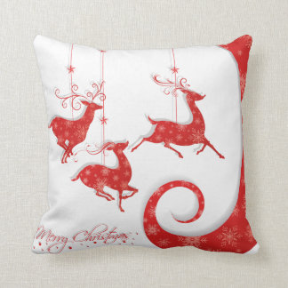Amazing Red Christmas Design Cushion