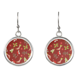 Amazing Red Christmas Designs Earrings