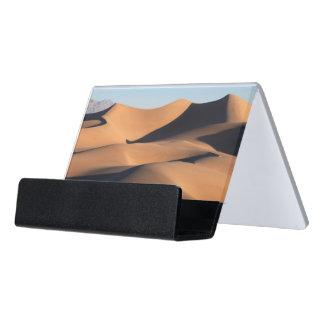 Amazing Shadows of Desert Desk Business Card Holder