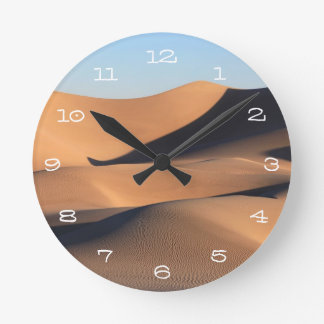 Amazing Shadows of Desert Round Clock