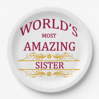 Amazing Sister Paper Plate