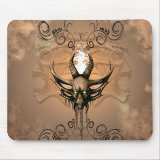 Amazing skull with floral elements mouse mat