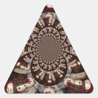 Amazing Snowman Triangle Sticker