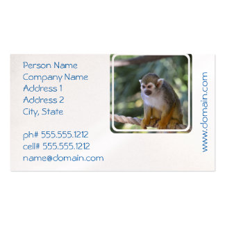 Amazing Squirrel Monkey Pack Of Standard Business Cards