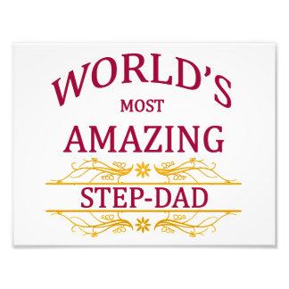 Amazing Step-Dad Photographic Print