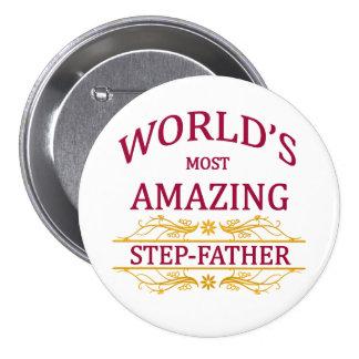 Amazing Step-Father 7.5 Cm Round Badge