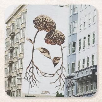 Amazing street art coaster WANDERLUST