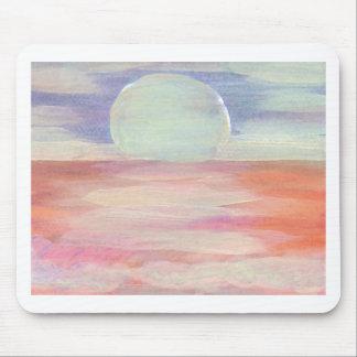 Amazing Sun pastel pink blue seascape sunrise Mousepad