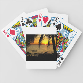 Amazing Sunset at the Beach Bicycle Playing Cards