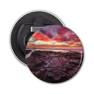 Amazing sunset at the tide pools bottle opener