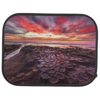 Amazing sunset at the tide pools car mat