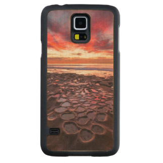Amazing sunset at the tide pools carved maple galaxy s5 case