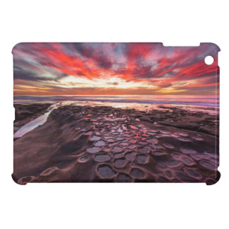 Amazing sunset at the tide pools cover for the iPad mini