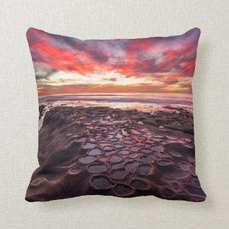 Amazing sunset at the tide pools cushion