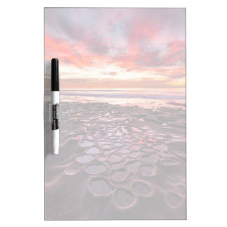 Amazing sunset at the tide pools dry erase board