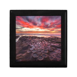 Amazing sunset at the tide pools gift box