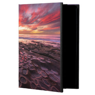 Amazing sunset at the tide pools iPad air case