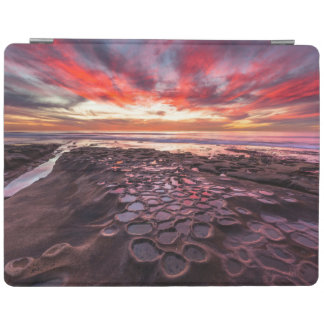 Amazing sunset at the tide pools iPad cover