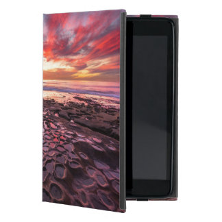 Amazing sunset at the tide pools iPad mini cover