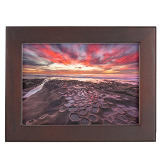 Amazing sunset at the tide pools keepsake box