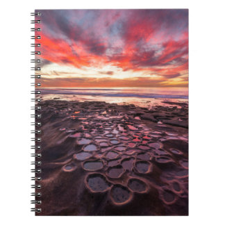 Amazing sunset at the tide pools notebook