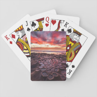 Amazing sunset at the tide pools playing cards