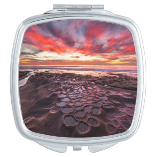 Amazing sunset at the tide pools travel mirrors