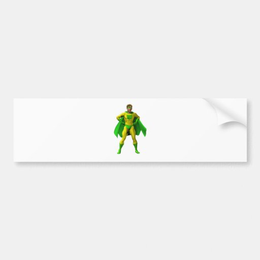 Amazing Superhero Illustration Bumper Sticker
