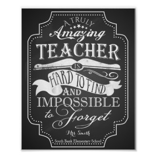 Thank You Teacher Posters   Zazzle.co.uk