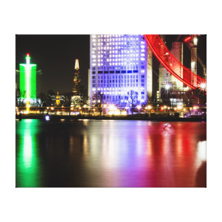 Amazing Thames with colour Canvas Print