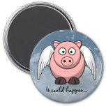 Amazing things happen in life everyday 7.5 cm round magnet
