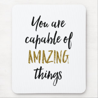 Amazing Things Motivational Quote Mouse Mat