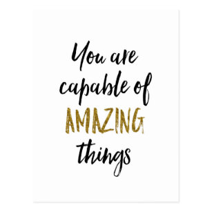 Amazing Things Motivational Quote Postcard