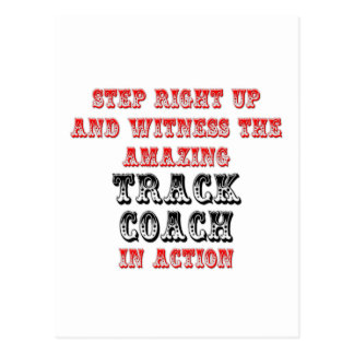 Amazing Track Coach In Action Postcard