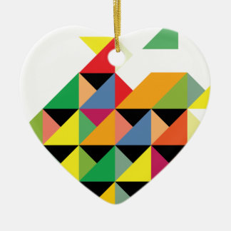 Amazing Triangle Print Hypnotic Christmas Ornament
