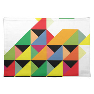 Amazing Triangle Print Hypnotic Placemat