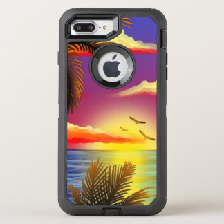 amazing tropical sunset OtterBox defender iPhone 8 plus/7 plus case