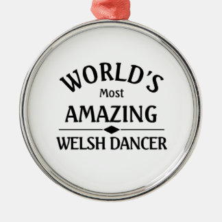Amazing Welsh Dancer Silver-Colored Round Decoration