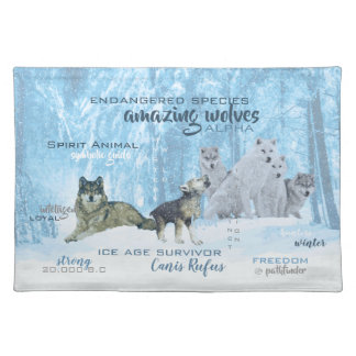 Amazing Wolves Typography | Personalized Placemat