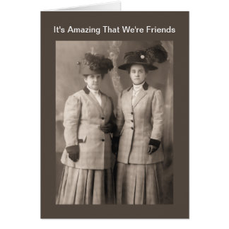 Amazing, Wonderful Friendship - Vintage Photograph Greeting Cards