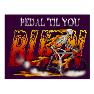 Amazingly Cool Spinning Cyclists Cyling gift Postcards