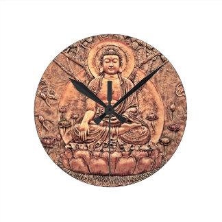 Amazingly Detailed Copper Buddha Clock