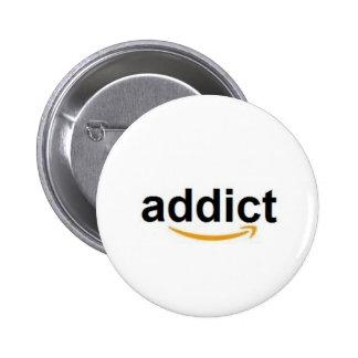 amazon addict 6 cm round badge