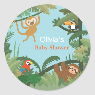 Amazon Animals Jungle Theme Baby Shower Stickers